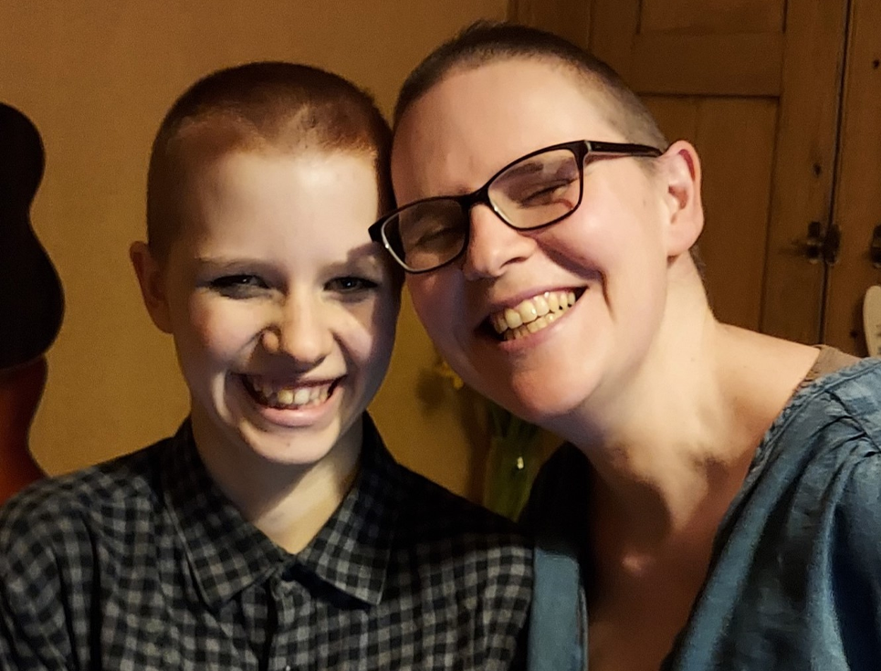 Mother and daughter brave the shave for St Richard's Hospice
